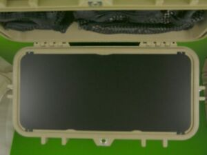 Precut blank Electronics special application panel fits your Pelican 1430 case