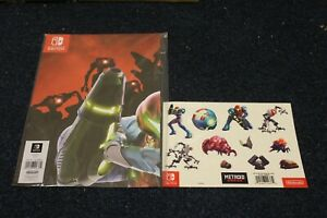 Metroid Dread Poster and Sticker set (NO GAME) NEW & SEALED