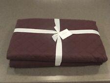 New 5pc Pottery Barn Belgian Flax Diamond Linen Queen Quilt w4 Shams Huckleberry