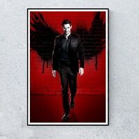 Lucifer Morningstar Lux Tom Ellis TV  Glossy Print Wall Art A4 Poster Decor