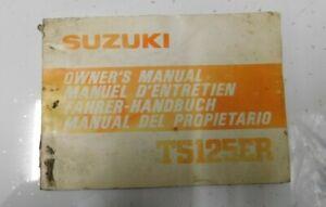 SUZUKI TS125ER OWNERS MANUAL