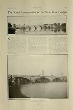 1903 Imprimé Royal Inauguration Of The Neuf Kew Pont