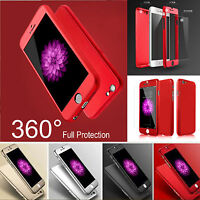 Smart Hybrid 360°Hard Ultra thin Case+Tempered Glass Cover For Apple iPhone 6 6S
