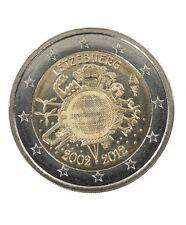 Pièce 2euros com Lux 2012  – 10ème Anniversaire des billets et des pièces en Eur