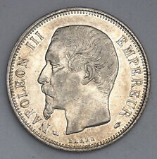 RARE 1853-A FRANCE SILVER 1 ONE FRANC COIN