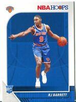2019-20 Panini Hoops RJ BARRETT RC Ratd Rookie - New York Knicks! ON FIRE! QTY!