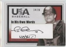2007 USA Baseball In His Own Words /20 Tim Federowicz #I-12 Auto