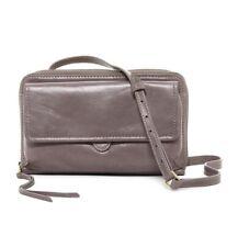 NWT Hobo International Abrielle Crossbody Bag Gray Granite Leather $158