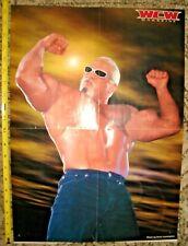 RARE VINTAGE WCW DOUBLE-SIDED POSTER SCOTT STEINER & MAJOR GUNNS WRESTLING TNA