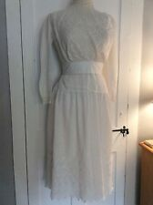Antique 1900  Edwardian Beautiful White Lacework Tea Dress
