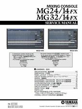 Yamaha MG24-14FX MG32-14FX Mixing Console Service Manual and Repair Guide
