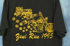 VTG Toys for Tots T-Shirt Black Tee Santa Christmas Xmas 1995 Motorcycle Zuni VA