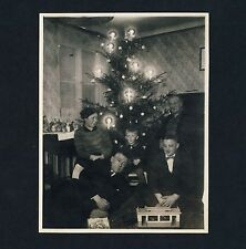 Christmas Tree Family toys juguetes en navidad * vintage German photo 1929