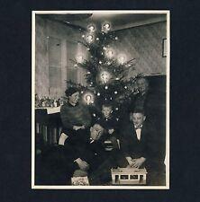 CHRISTMAS TREE FAMILY Toys WEIHNACHTEN Spielzeug * Vintage German Photo 1929