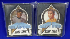 Star Trek Ceramic Mini Plaque Set of 2- MIB- FREE S&H (SRP-037)
