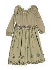 Girl Luna Luna Copenhagen Moss Green Holiday Party Dress Size 5/5T