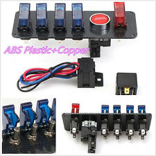 12V Racing Autos Automobiles 4+1 LED Toggle Button On-Off Ignition Switch Panel