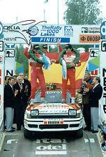 Carlos SAINZ SIGNED TOYOTA Rally DRIVER 12x8 Photo AFTAL COA Autograph