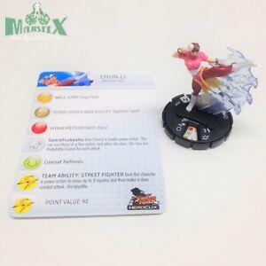 Heroclix Street Fighter set Chun-Li #008 Common figure w/card!