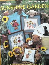 Leisure Arts SUNSHINE GARDEN 2600 Teddy Bear Bee Sunflower Ladybug Flower