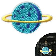 Blue Planet iron on patch Space Saturn Star Astronomy embroidery iron-on patches