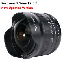 7artisans 7.5mm F2.8 II Wide Angle Fisheye EF-M Lens for Canon EOS-M100 M5 M6 M3
