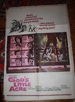 God's little Acre Vintage one sheet Movie poster Sexploitation Georgia 1967