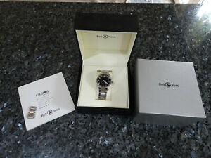 BELL AND ROSS FUSION STAINLESS STEEL WATCH NEVER WORN