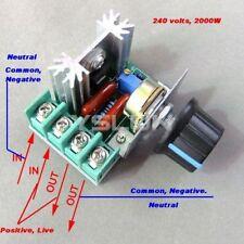 Regolatore velocità 2000W WATT 220v MOTORI ELETTRICI A CONDENSATORE dimmer 2000