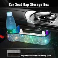 Diamond Rhinestone Bling Car Seat Crevice Box Storage Cup Holder Organizer Gap