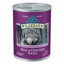 Blue Buffalo Wilderness High Protein Grain Free, Natural Adult Wet Dog Food, ...