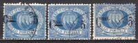 #1576 - San Marino - 3 pezzi 5 cent sovrastampato, 1892 - Usati