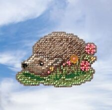 10% Off Mill Hill Spring Bouquet Collection X-stitch/Bead Kit - Hedgehog
