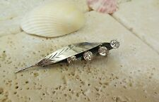 Fine English Sterling Silver CRYSTAL Broach Pools of Light  Gift Idea!