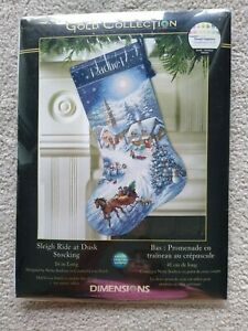 DIMENSIONS GOLD COLLECTION #8712 Sleigh Ride at Dusk Stocking Kit