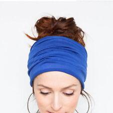 Soft Women Elastic Stretch Running Wide Hairband Yoga Headband Turban Head Wrap·