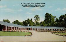 Exterior Street View Plantation Bell Motor Lodge Starkville MS Postcard D17