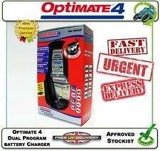 NEW GENUINE OPTIMATE 4 DUAL PROGRAM BATTERY CHARGER 100% SAFE 100% AUTOMATIC