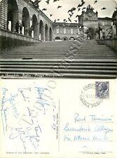 Cartolina di Amandola, scalinata e piccioni - Fermo, 1959