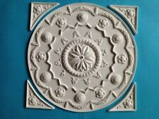 "CP120 8"" Circular Ceiling Panel & Corners Plaster RepliCast Miniatures Dolls Hou"