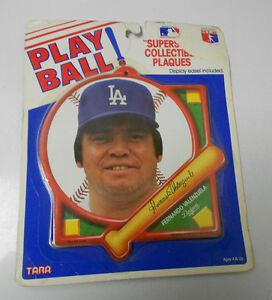 Tara Toys PLAY BALL Collectible Plaques FERNANDO VALENZULA Dodgers MOC