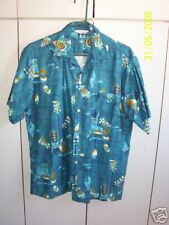 Made in Hawaii  Large  Royal Hawaii Symbols on Blue/Mint