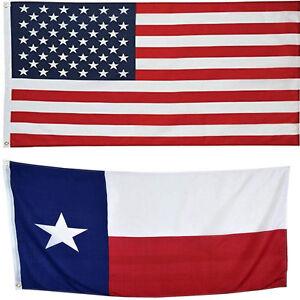 4' X 6' 4x6 USA Flag American Flag Texas State Flag WHOLESALE LOT USA SHIPPER