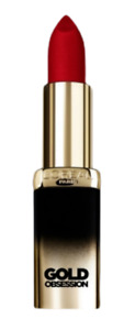 L'OREAL PARIS COLOR RICHE GOLD OBSESSION LIPSTICK SHADE RUBY GOLD NEW