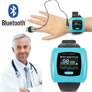 Bluetooth Wrist Pulse Oximeter 24 hours Spo2 Heart Rate Patient Monitor+Software