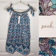 Peek Boho Chic Faux Tie Girls Shift Dress Sz 4 / 5