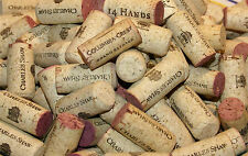 40 Used Wine Corks - All Natural, Crafts DIY 100% Cork, Red & Mostly One-Brand