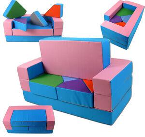 KG01B Spielsofa 4in1 Kindersofa Kinderzimmer Puzzle Kinderzimmersofa Softsofa