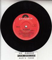 """JON ENGLISH  Six Ribbons 7"""" 45 rpm vinyl record + juke box title strip RARE!"""