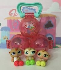Littlest Pet Shop Petriplets #1477#1478#1479 Hamster Original Accessories